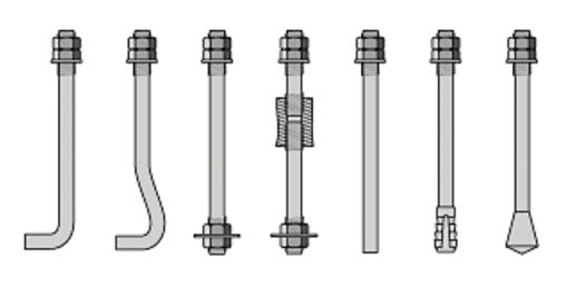 Типы фундаментных анкерных болтов ГОСТ 24379.1-80
